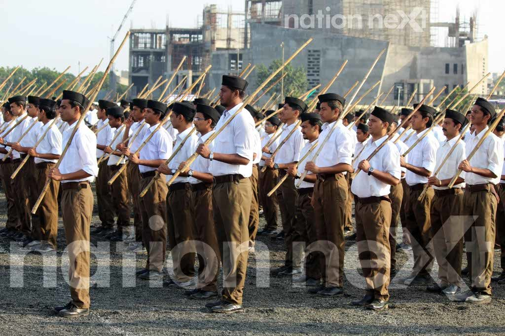 Ending a 90-year-old tradition, the right-wing organization RSS replaced Khaki shorts with brown trousers on Vijayadashmi at its headquarters in Nagpur.