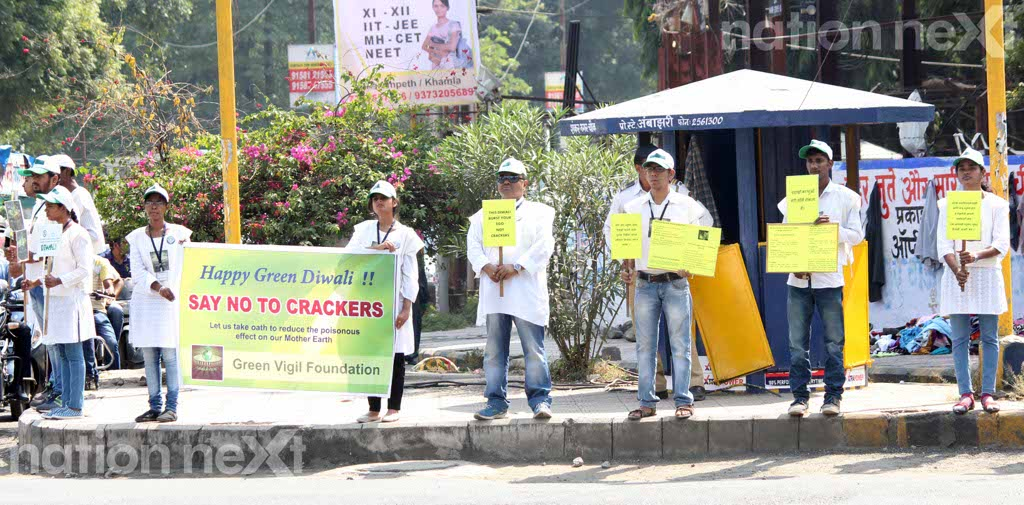 Nagpur youngsters go an extra mile to create awareness to forgo crackers on Diwali