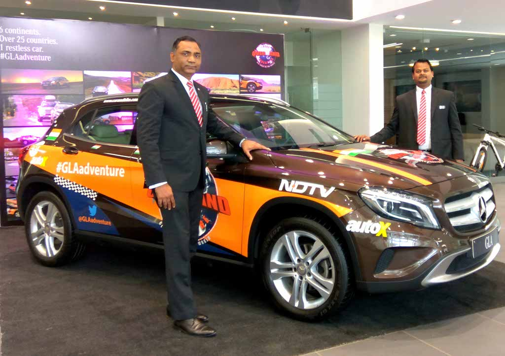 Mercedes-Benz GLA world tour vehicle reaches the Auto Hangar showroom, Nagpur