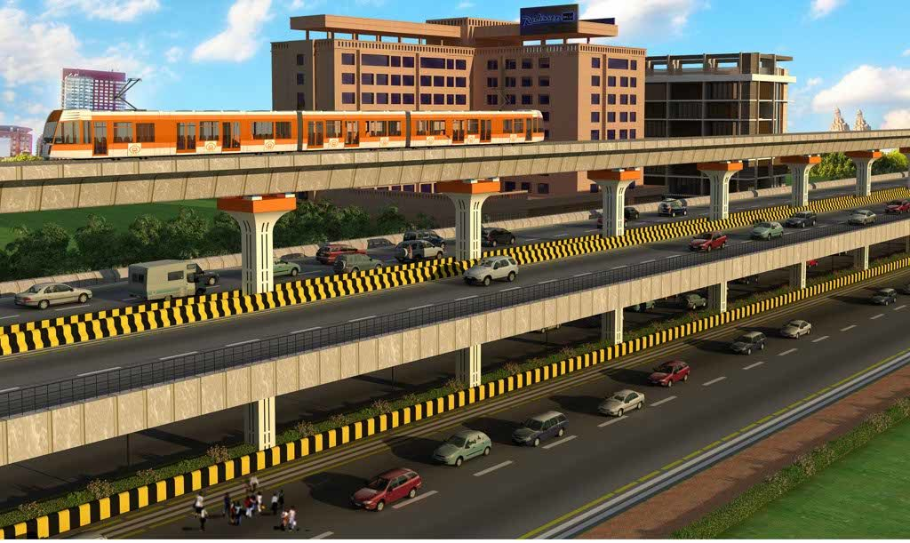 The demolition of the 15-year-old Chhatrapati square flyover in Nagpur started on November 15, 2016 to make way for a double decker flyover for Nagpur Metro. (Photo by: Himanshu Pal)