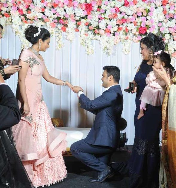 Swarnima Khare and Devranjan Mishra's engagement ceremony