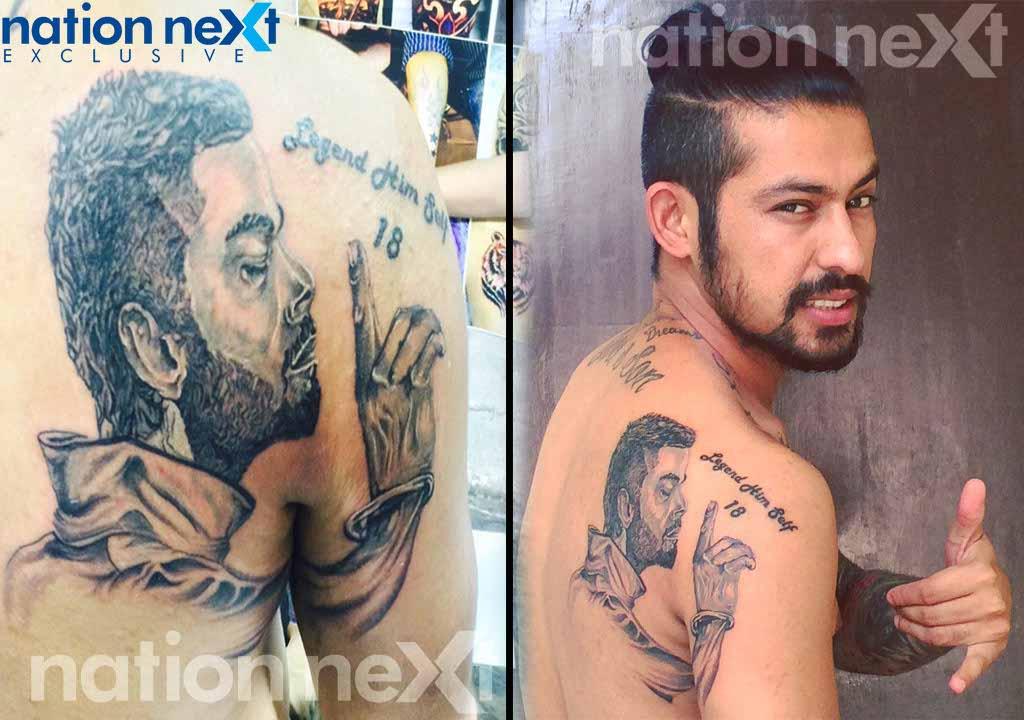 this former cricketer got virat kohli s tattooed on