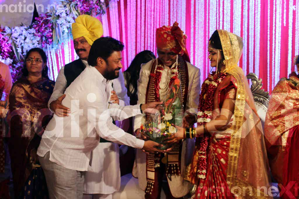Manikrao Thakare's son Atul's wedding