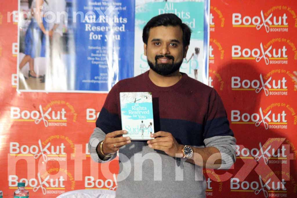 On his recent visit to Nagpur, Indian writer Sudeep Nagarkar launched his 8th novel 'All Rights Reserved For You' at Bookut Book store, Empress Mall.