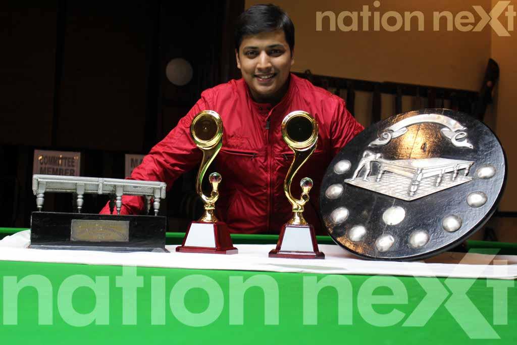 Shravan Mohta wins Gondwana Club's Billiards and Snooker Tournament 2016