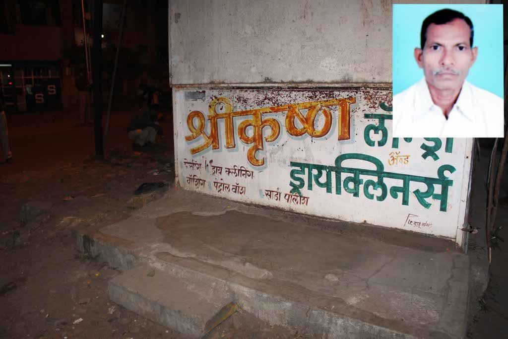A 51-year-old man was brutally murdered near Laxmi Nagar Jain temple today at around 8 pm in the evening.