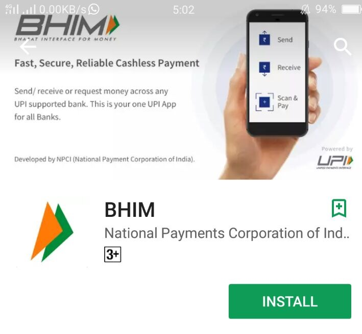 BHIM app launched by PM Narendra Modi on December 30, 2016 to boost digital transactions in India, has crossed 10 million downloads.