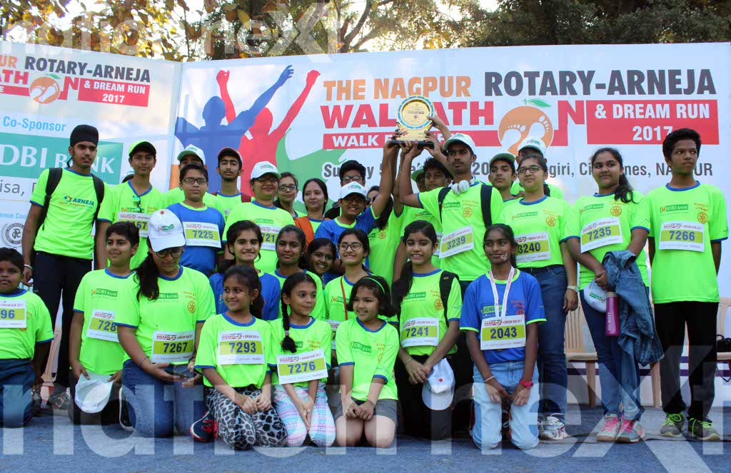 The Nagpur Rotary-Arneja Walkathon and Dream Run 2017 was organised by the Rotary Club of Nagpur and Arneja Heart and Multi-specialty Hospital.
