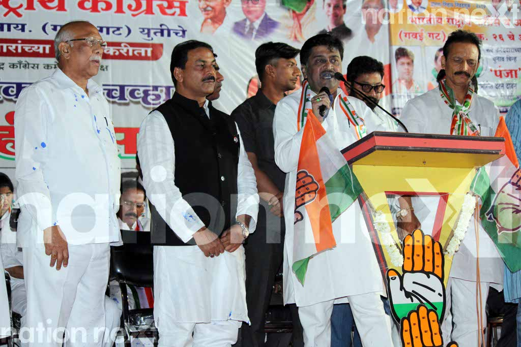 An unidentified young man today threw ink on former Maharashtra CM Ashok Chavan when Chavan East Nagpur to address a public meeting.