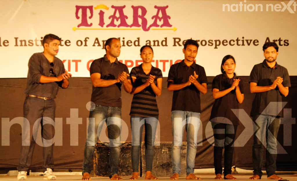 Students deliver powerful messages through their acts during Skit Competition at Tirpude College