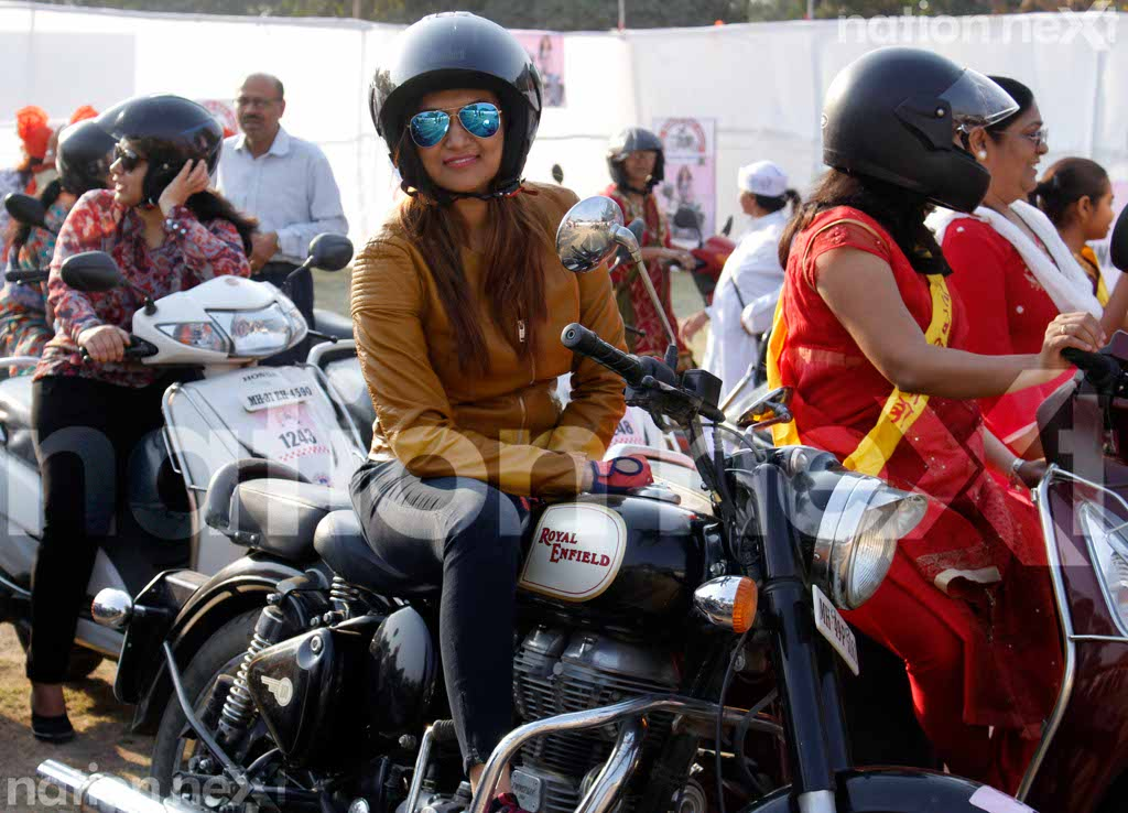 Nagpur women celebrate the spirit of womanhood at the All Women Bike Rally