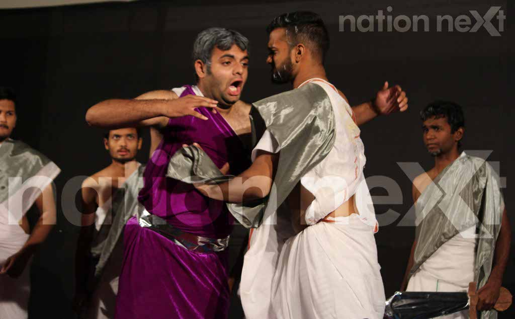 Hislop College students stage 'Julius Caesar' by William Shakespeare at Chitnavis Centre