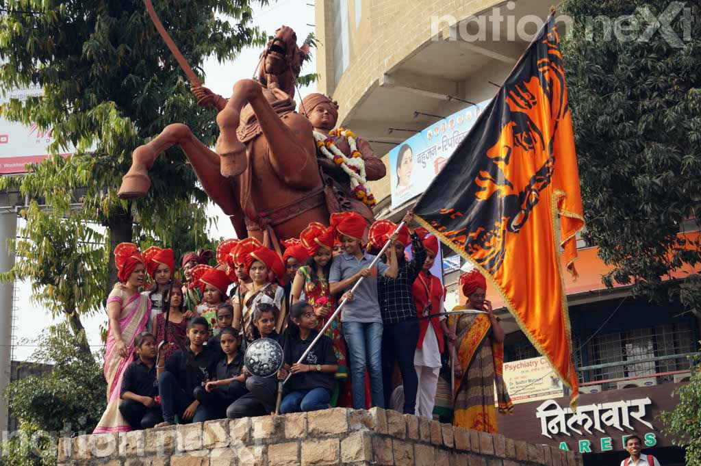 Nagpur girls celebrated International Women's Day by paying ode to Jija Mata and Rani Laxmibai of Jhansi during a bike rally organised by Jijauchya Waghini.