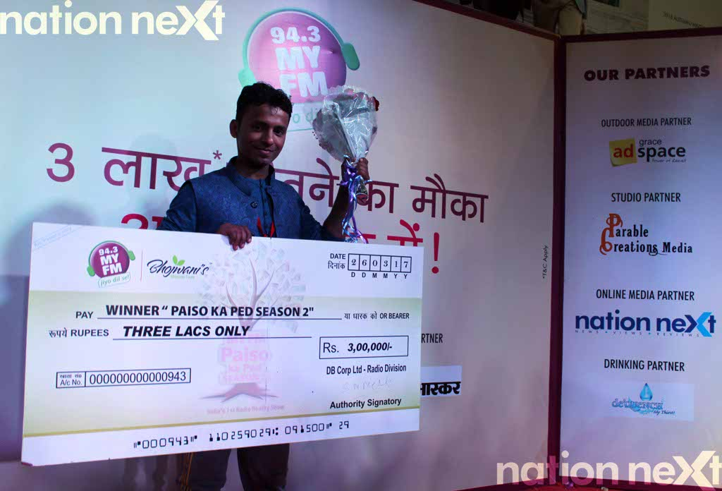 Tejas Bhandarkar, son of retired Indian Army personnel Guruprasad Bhandarkar, was the winner at the grand finale of 94.3 My FM Paiso Ka Ped - Season 2.