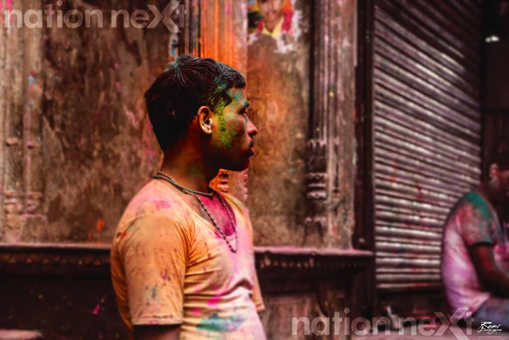 Holi celebrations at Mathura