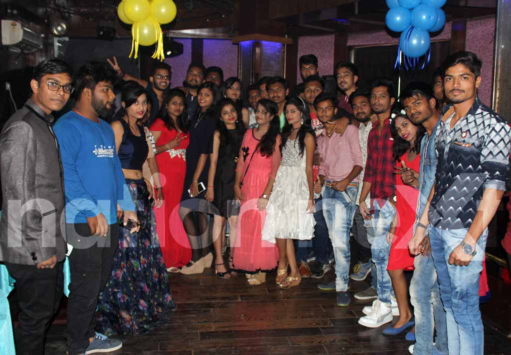 Students of Nagpur Polytechnic College relish their memorable moments during their farewell party at Laggunaa Bloo