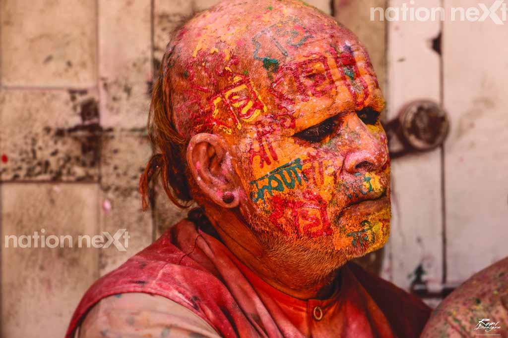Holi celebrations at Mathura