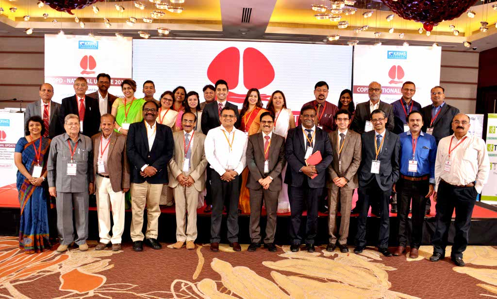 KRIMS Hospitals recently organized the national conference in Pulmonology - COPD National Update 2017 - at Hotel Radisson Blu, Nagpur.