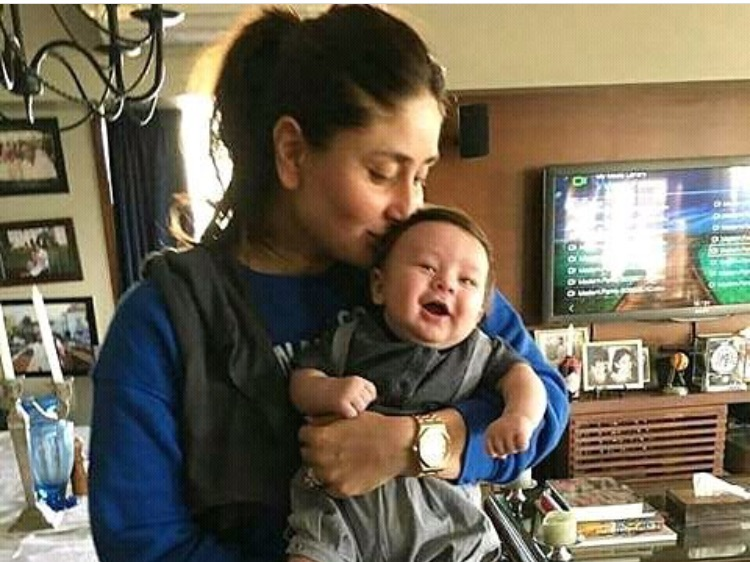 An adorable picture of Kareena Kapoor Khan holding her son Taimur Ali Khan Pataudi has surfaced online and is going viral.