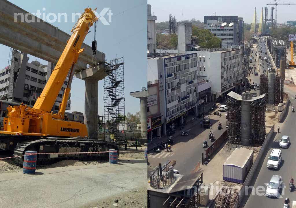 Nagpur Metro Rail Corporation Limited (NMRCL) has commenced metro rail construction work near Mayo Hospital at Ram Jhula crossing.