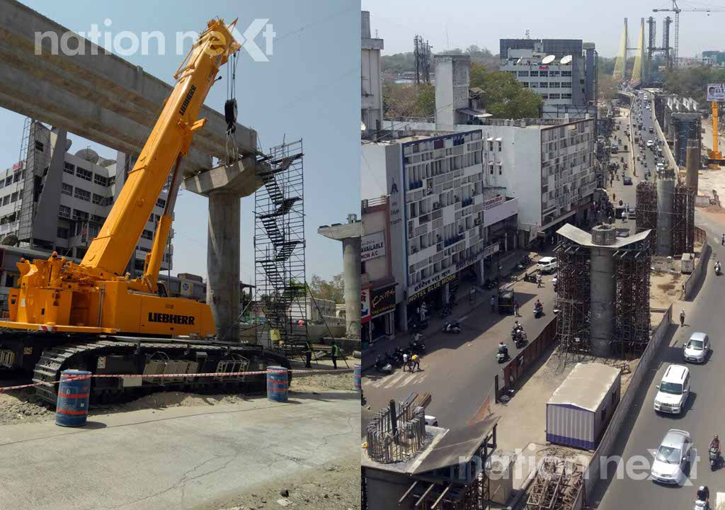 Nagpur Metro Rail Corporation Limited (NMRCL) has commenced metro rail construction work near Mayo Hospital at Ram Jhula crossing.
