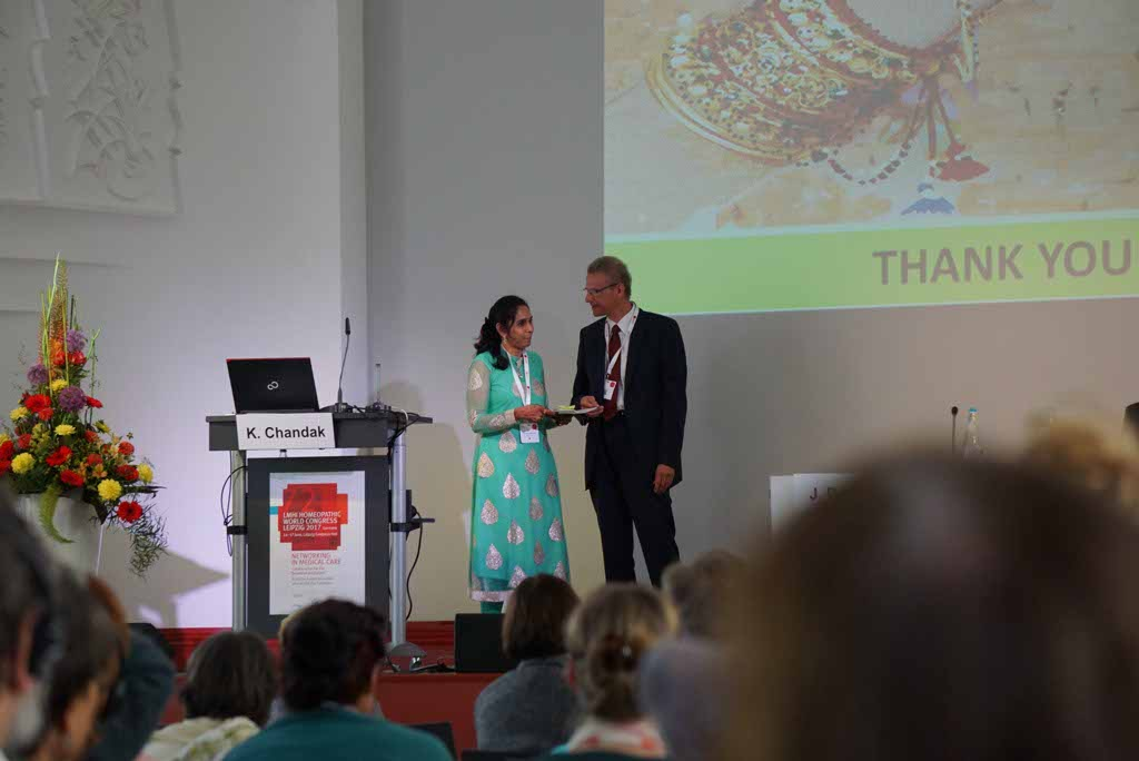 Dr Kavita Chandak from Nagpur presents research papers at LMHI Homeopathic World Congress 2017 at Germany
