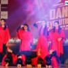 A group of girls performing at Dance Evolution VII organised at Deshpande Hall by Manch and D2F