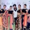 Imran Khan with the models during the fashion show organised by TBZ at Radisson Blu, Nagpur