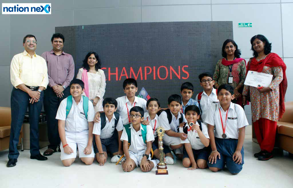 An inter-school quiz competition 'Quiz-o-range' was conducted in Nagpur by educational start-up Logicology at Kalidasa Auditorium, Persistent Systems Ltd.