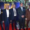 Sachin Jajodia, Praful Doshi, Pankaj Baleshi, Girish Deodhar and Suhas Buddhe during VIA's 54th Foundation Day at Hotel Centre Point, Nagpur