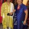 Anita Agrawal and Sarita Agrawal during the 19th anniversary of Rag's Boutique at Ramnagar, Nagpur