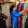 Guests during the 19th anniversary of Rag's Boutique at Ramnagar, Nagpur