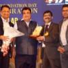 Paritosh Agrawal and Nitin Gadkari during VIA's 54th Foundation Day at Hotel Centre Point, Nagpur