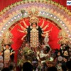 The idol of Goddess Durga clicked during the Ghatstaphana of Durga Devi idol in Nagpur