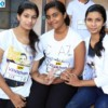 Shrushti Saptarshi, Shanidita Das and Siddhi Kashikar during VPA Marathon held at Nagpur