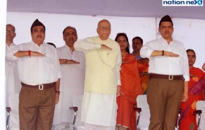 LK Advani attends RSS chief Mohan Bhagwat's Vijayadashami speech in Nagpur