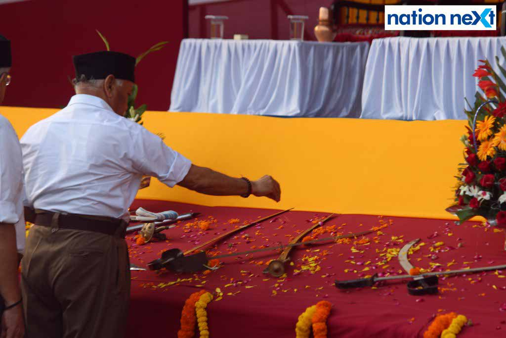 29-09-17-Mohan Bhagwat-Vijayadashmi celebrations by RSS-Amar Ashok Jajoo (5)