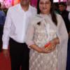 Akbar and Zahida Malik during Mahaprasad organised by N Kumar at Poonam Chambers, Nagpur