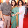 Anand, Rohini and Aarti Rai during Mahaprasad organised by Adv Shyam Dewani at his office in Nagpur