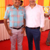 Ashwin Shah and Prem Kumar during Mahaprasad organised by Adv Shyam Dewani at his office in Nagpur