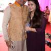 Deepak and Anisha Moryani during Mahaprasad organised by N Kumar at Poonam Chambers, Nagpur