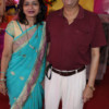 Sonal and Dilip Datar during Mahaprasad organised by N Kumar at Poonam Chambers, Nagpur