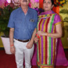 Dr Dilip and Uma Bhambhani during Mahaprasad organised by N Kumar at Poonam Chambers, Nagpur