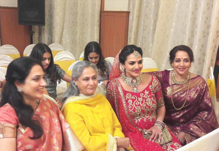 Actress Esha Deol renews her wedding vows with husband Bharat Takhtani during her baby shower