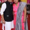 Kashish and Archana Wani during Mahaprasad organised by N Kumar at Poonam Chambers, Nagpur
