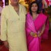Rajesh and Namrata Sharma during Mahaprasad organised by N Kumar at Poonam Chambers, Nagpur