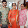 Adv Sahil, Rajshree and Adv Shyam Dewani during Mahaprasad organised by Adv Shyam Dewani at his office in Nagpur