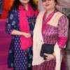 Sakhi and Vasundhara Sahu during Mahaprasad organised by N Kumar at Poonam Chambers, Nagpur