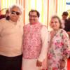 Adv Shyam Dewani, Rohit and Vina Bajaj during Mahaprasad organised by Adv Shyam Dewani at his office in Nagpur