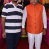 Sudhakar Deshmukh during Mahaprasad organised by N Kumar at Poonam Chambers, Nagpur
